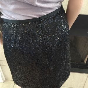 J. Crew size 2 black sequence skirt size 2